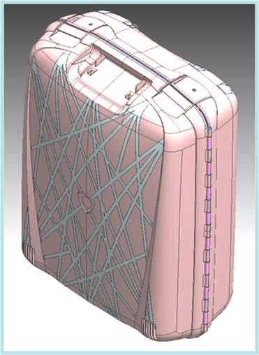 Reducción del 25% del peso de una maleta de PP